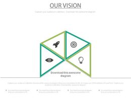 Four Staged Business Vision Analysis Powerpoint Slides
