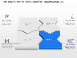 Four Staged Chart For Team Management Global Business Deal Ppt Template Slide