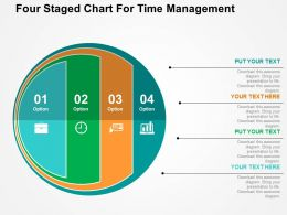 Four Staged Chart For Time Management Flat Powerpoint Design