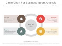 Four Staged Circle Chart For Business Target Analysis Flat Powerpoint Design
