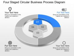 Four Staged Circular Business Process Diagram Powerpoint Template Slide
