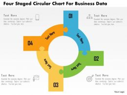 Four Staged Circular Chart For Business Data Flat Powerpoint Design
