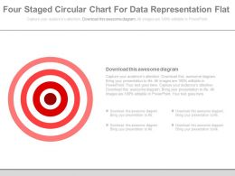 Four Staged Circular Chart For Data Representation Flat Powerpoint Slides