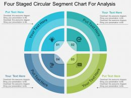 Four Staged Circular Segment Chart For Analysis Flat Powerpoint Design