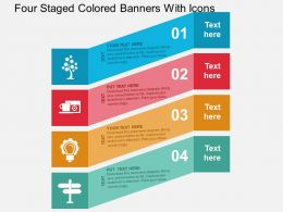 four_staged_colored_banners_with_icons_flat_powerpoint_design_Slide01