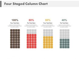 Four Staged Column Chart With Percentage Powerpoint Slides