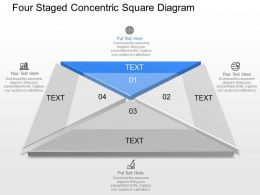 Four Staged Concentric Square Diagram Powerpoint Template Slide