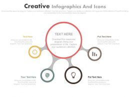 Four Staged Creative Infographics And Icons Flat Powerpoint Design