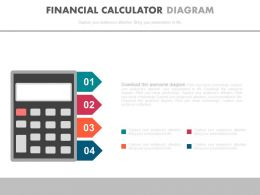 Four Staged Financial Calculation Diagram Powerpoint Slides