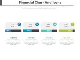 Four Staged Financial Chart And Icons Powerpoint Slides