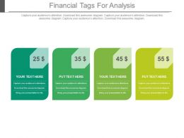Four Staged Financial Tags For Analysis Powerpoint Slides