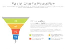 Four Staged Funnel Chart For Process Flow Powerpoint Slides