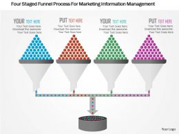 Four Staged Funnel Process For Marketing Information Management Flat Powerpoint Design