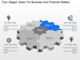 four_staged_gears_for_business_and_financial_matters_powerpoint_template_slide_Slide01