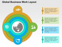 Four Staged Global Business Work Layout Ppt Presentation Slides