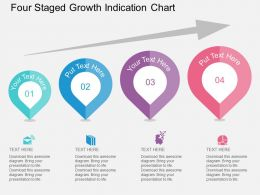 Four Staged Growth Indication Chart Flat Powerpoint Desgin