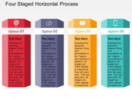 Four Staged Horizontal Process Flat Powerpoint Design