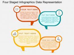 Four Staged Infographics Data Representation Flat Powerpoint Desgin