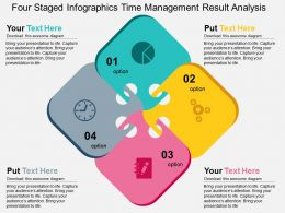 Four Staged Infographics Time Management Result Analysis Flat Powerpoint Design
