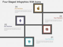 Four Staged Infogrphics With Icons Flat Powerpoint Design