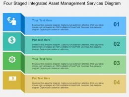 Four Staged Integrated Asset Management Services Diagram Flat Powerpoint Design