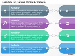 Four Staged International Accounting Standards Flat Powerpoint Design