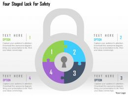 Four Staged Lock For Safety Flat Powerpoint Design