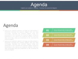 Four Staged Marketing Agenda Tags Powerpoint Slides