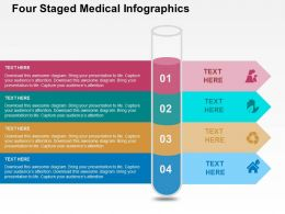Four Staged Medical Infographics Flat Powerpoint Design