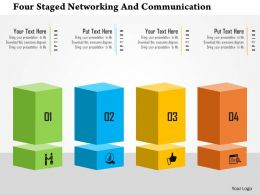 four_staged_networking_and_communication_flat_powerpoint_design_Slide01