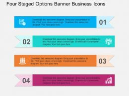 Four Staged Options Banner Business Icons Flat Powerpoint Design