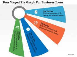 Four Staged Pie Graph For Business Icons Flat Powerpoint Design