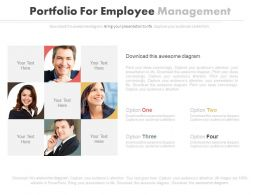 Four Staged Portfolio For Employee Management Flat Powerpoint Design