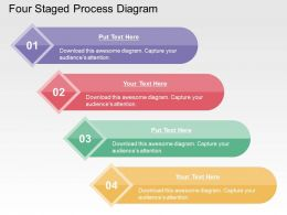 Four Staged Process Diagram Flat Powerpoint Design