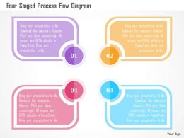 Four Staged Process Flow Diagram Flat Powerpoint Design