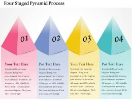 Four Staged Pyramid Process Powerpoint Templates