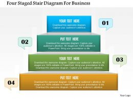 Four Staged Stair Diagram For Business Powerpoint Template