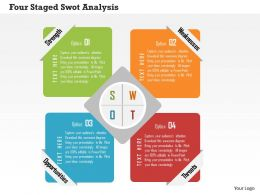 four_staged_swot_analysis_flat_powerpoint_design_Slide01