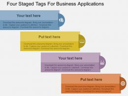 Four Staged Tags For Business Applications Flat Powerpoint Design
