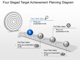 Four Staged Target Achievement Planning Diagram Powerpoint Template Slide