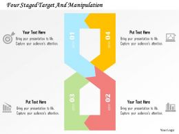 Four Staged Target And Manipulation Flat Powerpoint Design