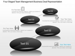 four_staged_team_management_business_deal_representation_powerpoint_template_slide_Slide01