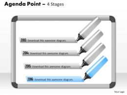 Four Staged Text Box For Process Flow 0214