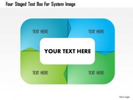 Four Staged Text Box For System Image Powerpoint Template