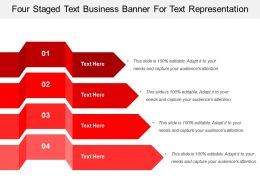 Four Staged Text Business Banner For Text Representation