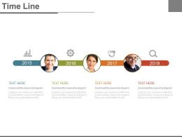 Four Staged Timeline For Employee Management Powerpoint Slides