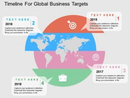 Four Staged Timeline For Global Business Targets Ppt Presentation Slides