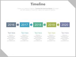 Four Staged Timeline Sequence Diagram Powerpoint Slides