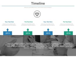 Four Staged Timeline With Business Agenda Powerpoint Slides