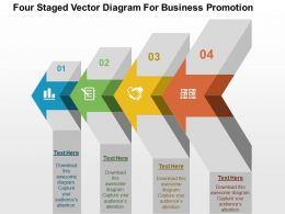 Four Staged Vector Diagram For Business Promotion Flat Powerpoint Design